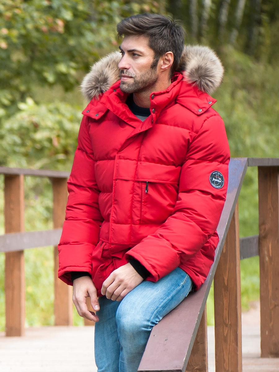 Joutsen пуховик Arctic Star Fur красный