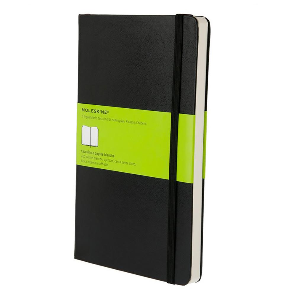Блокнот Moleskine Classic Large, цвет черный, без разлиновки