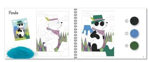 Песочные картинки Панда и ее друзья