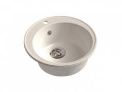 Мойка GranFest (ГранФест) 480 ЕСО-08 для кухни из искусственного камня, белый