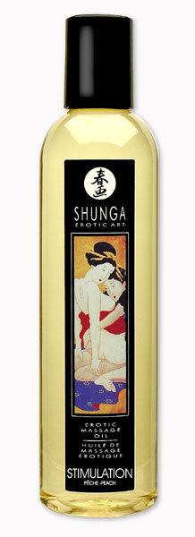 Массажные масла и свечи: Массажное масло с ароматом персика Stimulation - 250 мл.