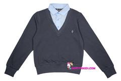 1606 джемпер с рубашкой-обманкой 5