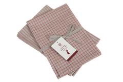Набор полотенец 2 шт Luxberry Timeless mini натуральный/красный