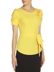 WP6502F-5 блузка женская, желтая