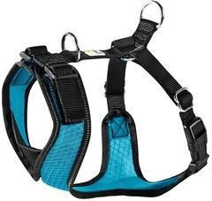 Шлейка для собак Hunter Manoa S (38-47 см) нейлон/сетчатый текстиль голубой