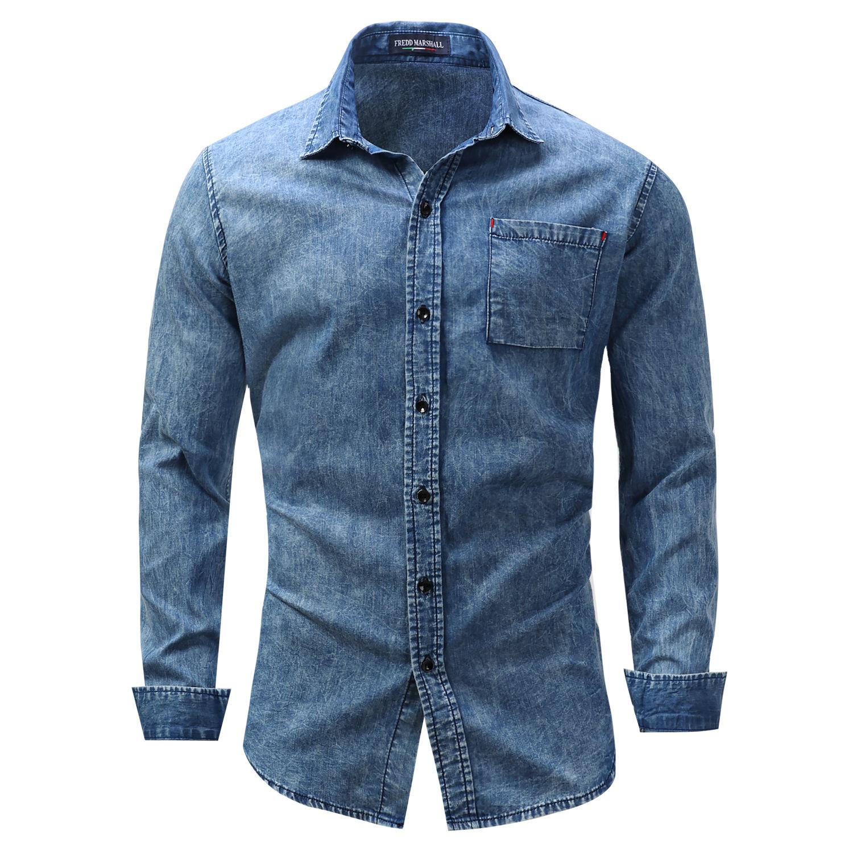 мужские рубашки Мужская рубашка джинсовая 4474619312_33615125.jpg