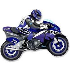 F Мини фигура Мотоцикл (синий) / Motor bike (14