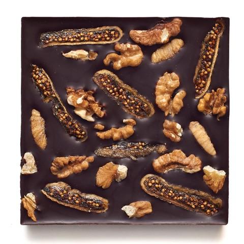 С инжиром и грецким орехом, 72% какао, 90 г