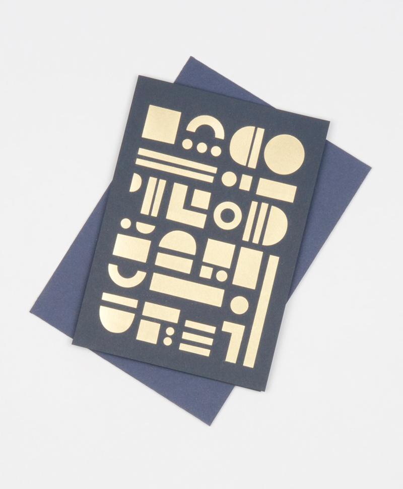 Открытка Artefact Card Brass & Navy