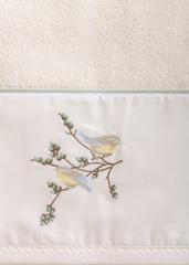 Полотенце 100х150 Bovi Spring с вышивкой экрю