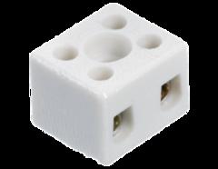 Керамическая клемма 2 х 2,5 мм², с крепежным отверстием