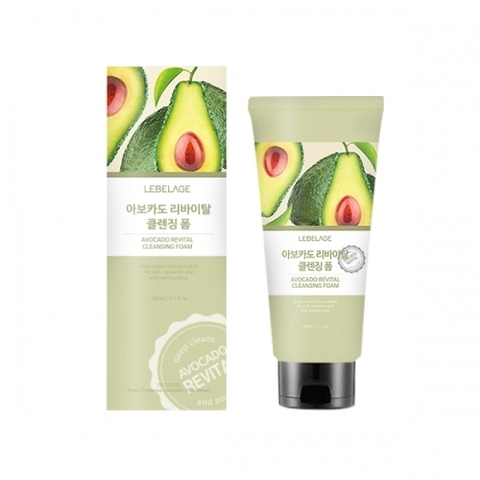 Очищающая пенка LEBELAGE Avocado Revital Cleansing Foam 180ml