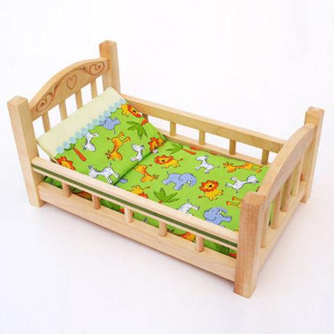 Кукольная кроватка деревянная маленькая