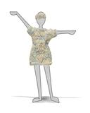 Вязаное платье - Демонстрационный образец. Одежда для кукол, пупсов и мягких игрушек.