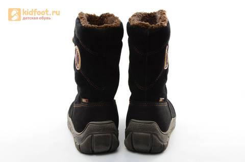 Зимние сапоги для мальчиков из натуральной кожи на меху Лель, цвет черный. Изображение 6 из 15.