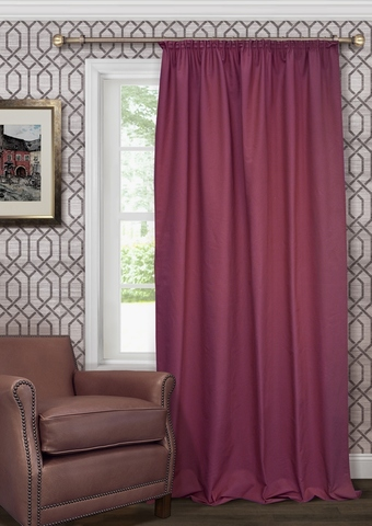 Готовая штора из чистого хлопка с подхватом Адриана бордово-фиолетовый