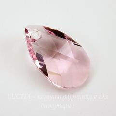 6106 Подвеска Сваровски Капля Light Rose (22 мм)