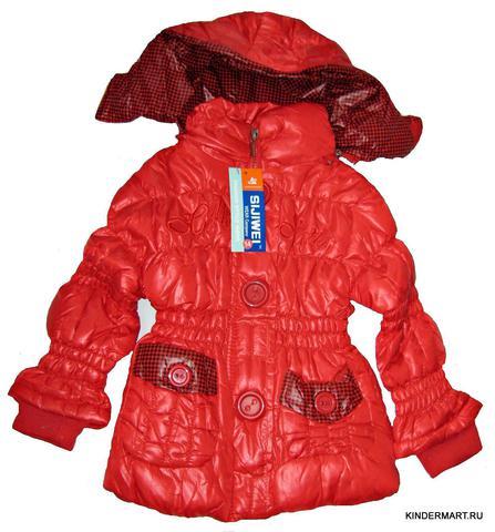 Стеганая зимняя куртка на девочку