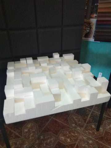 Акустическая пенополистирол панель Echoton Pixels StyroFoam 1 шт