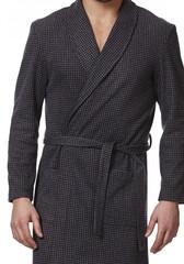 Теплый трикотажный мужской халат