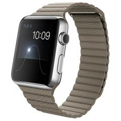 Часы Apple Watch 42мм (бежевый кожаный с магнитной застежкой)