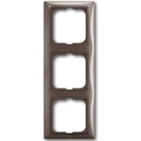 Рамка на 3 поста. Цвет серый. ABB(АББ). Basic 55(Бейсик 55). 1725-0-1533