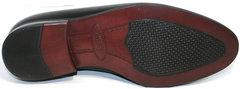 Мужские туфли оксфорд Ikos 006-1 Black