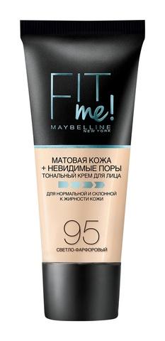 Мейб Fit Me тональный крем матовая кожа + невидимые поры №  95 светло-фарфор