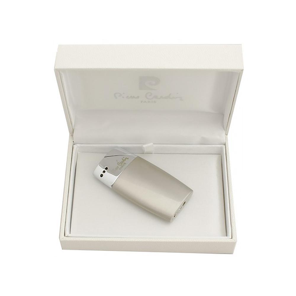 Зажигалка Pierre Cardin кремниевая газовая пьезо, цвет хром/светлая бронза, матовая, 3,2х1х6,3см