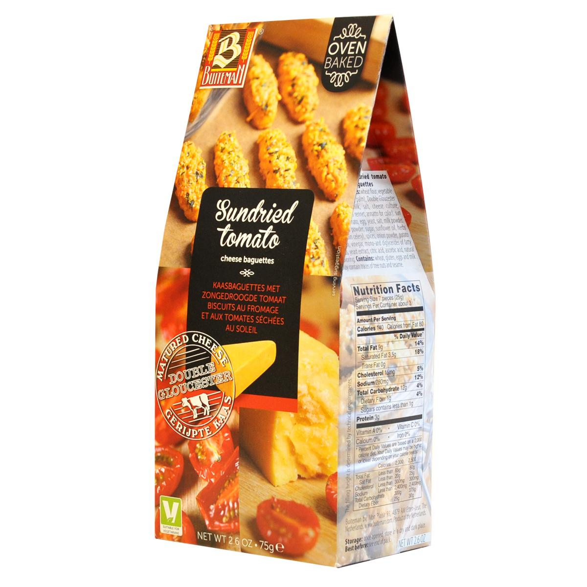 Печенье Buiteman с сушеными томатами и сыром глостер