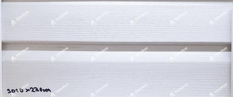 Сайдинг Ю пласт Корабельный брус белый 3050х230 мм