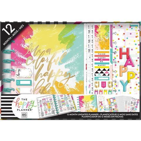 Набор для заполнения ежедневника  + планер Classic Happy Planner® Box Kit - 19,3 х 24,3см. -Colorful Happy (НЕ датирован)