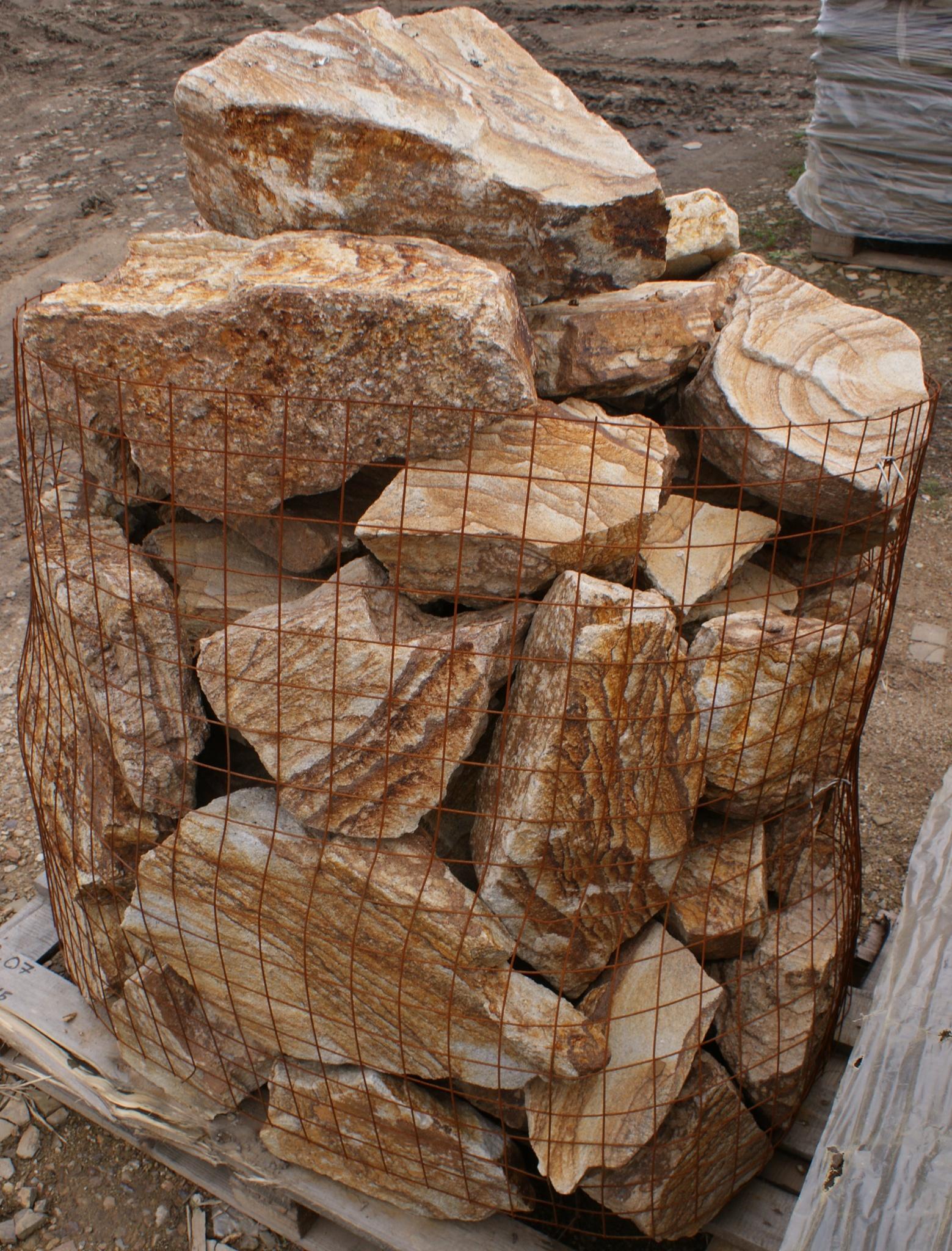 Бутовый камень кладочный Тигровый для габионов