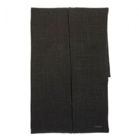 PLC-1 Нижняя сторона наволочки с молнией, цвет: чёрный, 100% лен, 45*45 см