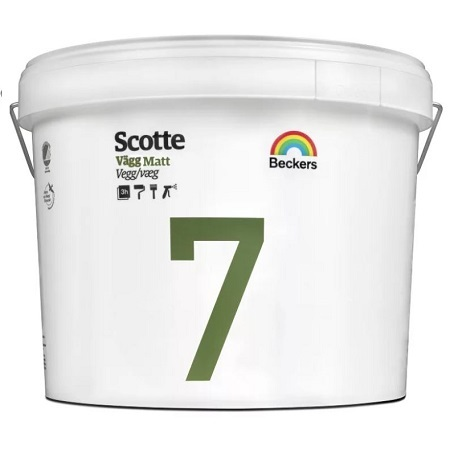 Краска для стен и потолков Beckers Scotte 7 / Беккерс Скотти матовая