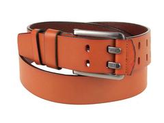 8245-8 ремень кожаный мужской, коричневый