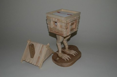 Избушка игрушечная на курьих ножках Мастерская