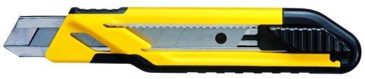 Нож  с самофиксирующимся 18мм лезвием с отламывающимися сегментами   Stanley 0-10-280
