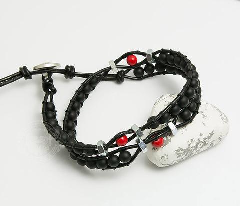 BS736 Необычный браслет &#34Chan Luu&#34 из натурального камня и гаек, Boroda Design