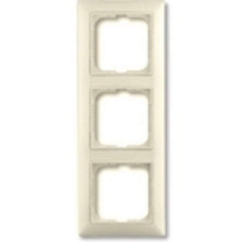 Рамка на 3 поста. Цвет слоновая кость. ABB(АББ). Basic 55(Бейсик 55). 1725-0-1486