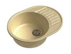 Мойка GranFest (ГранФест) 580 ЕСО-58 для кухни из искусственного камня, бежевый