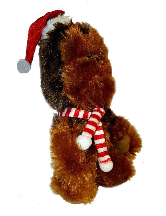 Новогодние Звездные войны мягкая игрушка Чубакка в шапочке