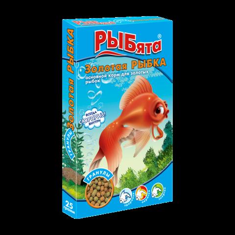 Зоомир РЫБята Золотая Рыбка Сухой корм для золотых рыбок, гранулы