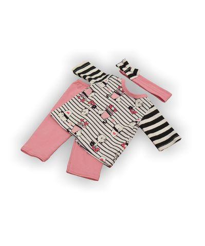 Трикотажный костюм - Розовый. Одежда для кукол, пупсов и мягких игрушек.