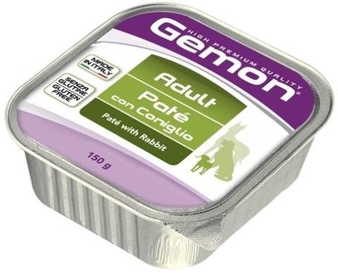 Gemon Dog Adult Pate with Rabbit