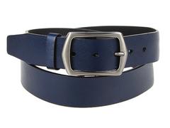 8245-7 ремень кожаный мужской, синий