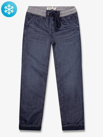 BJN005074 джинсы для мальчиков утепленые, дарк