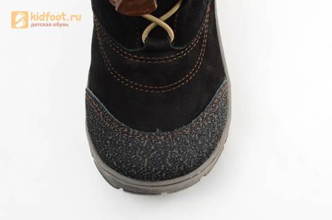 Зимние сапоги для мальчиков из натуральной кожи на меху Лель, цвет черный. Изображение 13 из 15.
