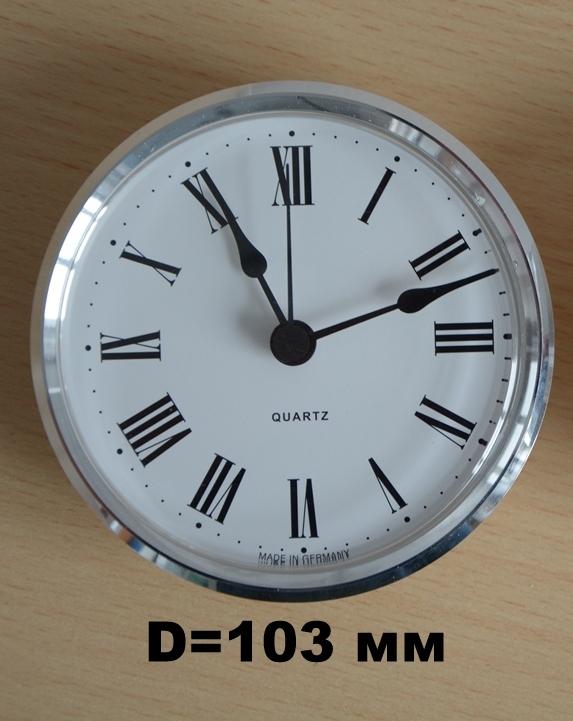 Циферблат часов диаметром 103 мм.