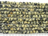 Нить Бисера из яшмы далматинец, шар гладкий 3мм